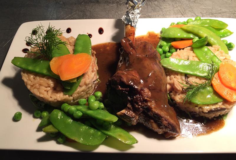 Lamb Shank with Mushroom Risotto