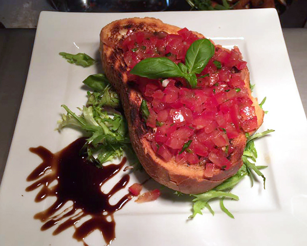 Starter - Tomato Brushetta, Revival Cafe & Restaurant, Cheltenham