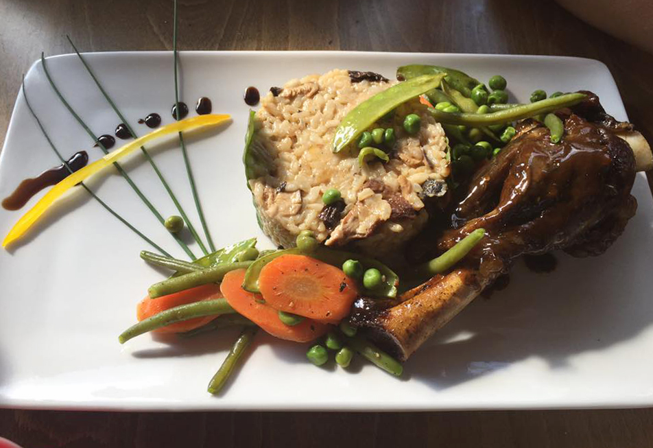 Lamb Shank with Mushroom Risotto - Homemade meals at Revival Cheltenham
