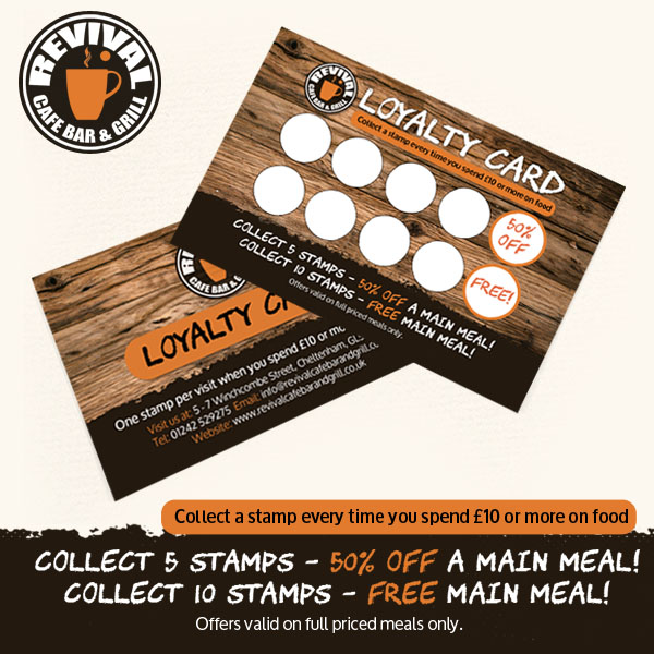 Get a FREE meal with a Loyalty Card!