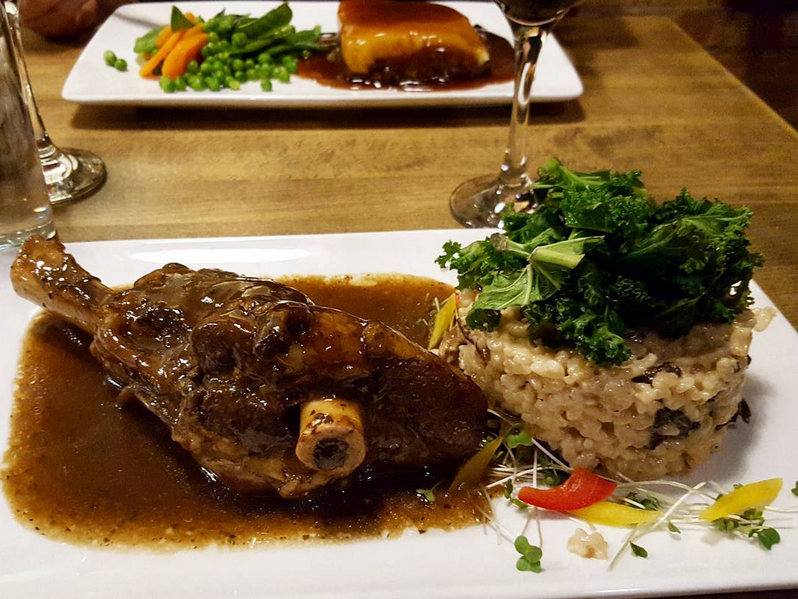 Lamb Shank and Risotto